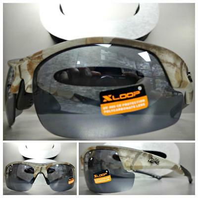 12e2dda8275 WRAP AROUND SPORT Hunting Fishing Military Tactical SUN GLASSES Camouflage  Frame
