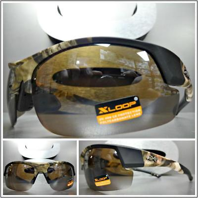 WRAP AROUND SPORT Hunting Fishing Military Tactical SUN GLASSES Camouflage Frame