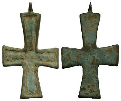 LAC NICE MEDIEVAL XIII-XV cent AD  Bronze CROSS  22