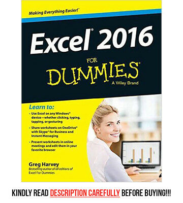 *QUICK SHIP* - Excel 2016 For Dummies (1E) by Greg Harve