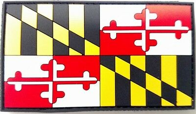 Maryland State Flag Patch Pvc W/ Velcro Back