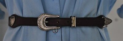 Circle Y Brand Women's Brown Western Belt with Hearts size 32