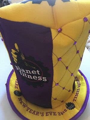 New Years Eve Times Square Genuine 2018 Hat With Purple Studs Brand New