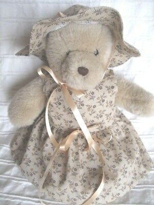 Teddy Bear Clothes, Handmade Cotton 'Dallas' Dress and Sunhat