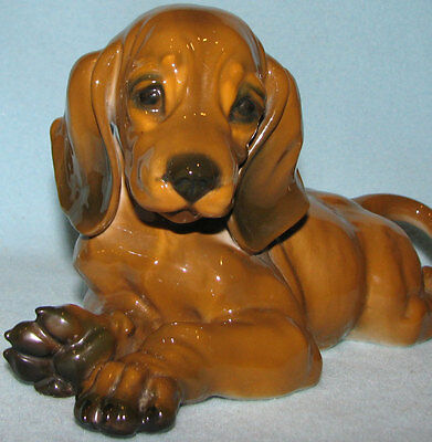 DACHSHUND big ROSENTHAL doxie puppy dog HEIDENREICH FREE SHIPPING!! Excellent