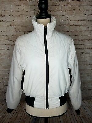 Vintage 80s Colorado Classics by Gerry Ski Jacket Coat White Black Sz M