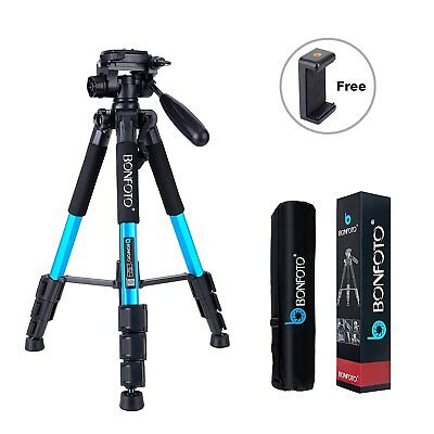 BONFOTO Q111 Camera Tripod 55-inch Compact Lightweight Travel Tripod with Phone
