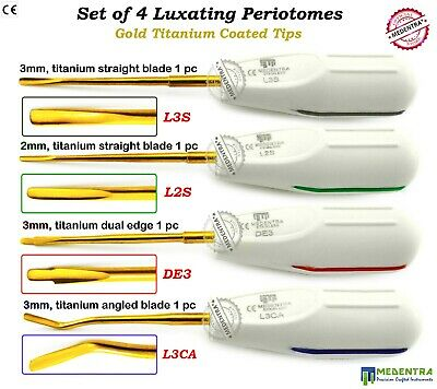 Surgical-Periodontal Ligament Periotome-Dental Tooth/Root-Extraction-Tools 4 PCS