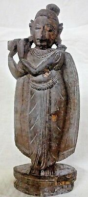 Rare Tribal Hand Curved Wooden Lady Doll Beautiful Antique Ancient Vintage
