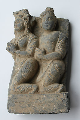 Ancient Indo Greek Buddhist  Buddha  Figure Group 200/400 Ad God