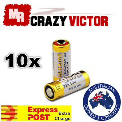 10x 23A 21/23 A23 23A 23GA 23AE 12V Alkaline Battery for Garage Car Remote Alarm