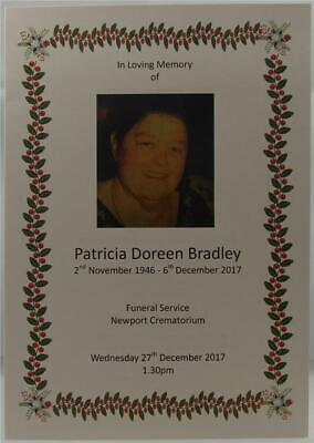 Personalised Funeral Memorial Order Of Service 4 8 12 16 Page Booklet Ivory