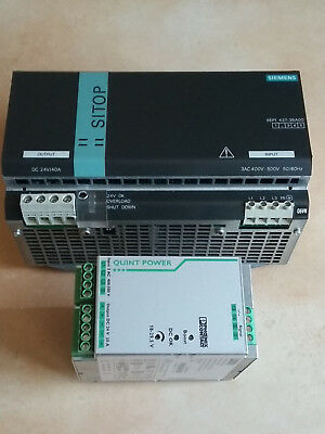 Siemens SITOP power 40 6EP1437-3BA00 + Phoenix Contact Quint-PS/3AC/24DC/20
