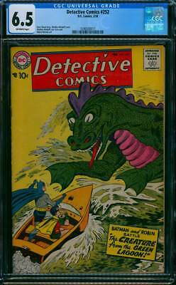 Detective Comics # 252  Creature from the Green Lagoon !  CGC 6.5 scarce book !