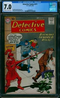 Detective Comics # 271  Batman's Armored Rival !  CGC 7.0 scarce book !