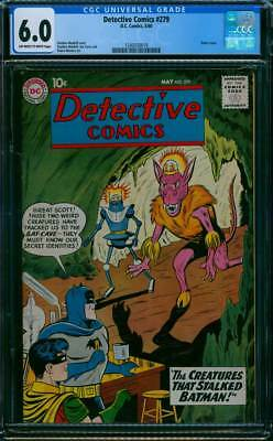 Detective Comics # 279  The Creatures that Stalked !  CGC 6.0 scarce book !