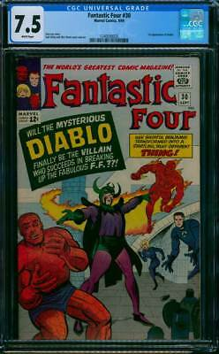 Fantastic Four # 30  First appearance of Diablo !  CGC 7.5  scarce book !