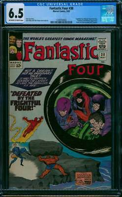 Fantastic Four # 38  Defeated by the Frightful Four !  CGC 6.5  scarce book !