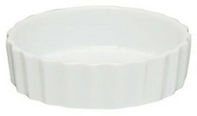 White Fluted Porcelain Mini Quiche Dish Mould Pastry Pie Flan Tart Baking Dish