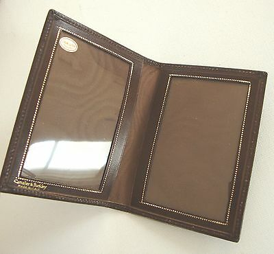 Vintage CAMALIER & BUCKLEY Genuine Leather PHOTO- ID Holder Wallet ITALY