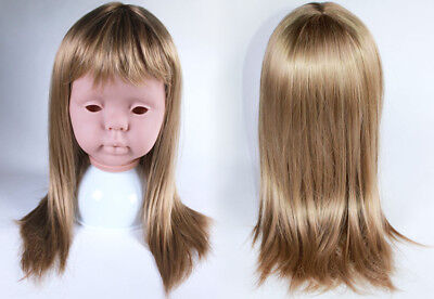 "Reborn doll Wig. MONIQUE ""PEGGY SUE"" 17-18""  (43.2 - 45.8CM) BLONDE"