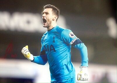 Hugo Lloris Authentic Signed 16X12 Spurs Photo Aftal#198