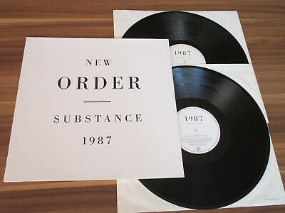 New Order - Substance 1987 / 2LP Germany Factory Rough Trade - Prägecover