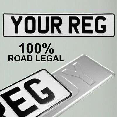 1x Pressed number plate metal embossed registration reg UK Road Legal 100% no GB