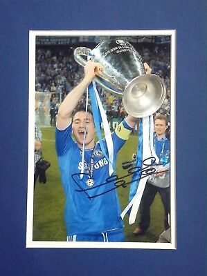 Frank Lampard Authentic Signed Mounted Photo Aftal#198