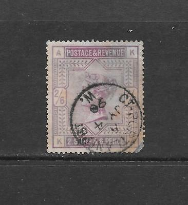 1883 Queen Victoria SG178  2s.6d. Lilac High Value Used GREAT BRITAIN