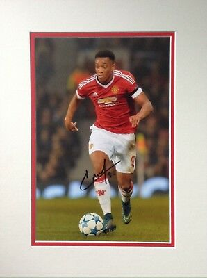 Anthony Martial Authentic Signed Mounted Manchester Utd Photo Aftal#198