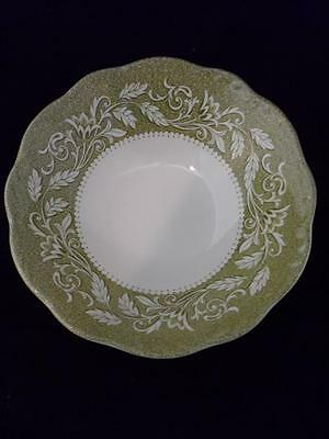 COUPE CEREAL BOWL -J&G MEAKIN Sterling Colonial English Ironstone Green Transfer