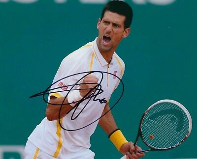 Novak Djokovic Authentic Signed Tennis 10X8 Photo Aftal#198