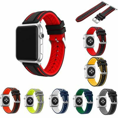 UK Soft Silicone Replacement Strap Sport Band For Apple Watch 42mm/38mm iWatch