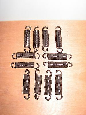 #2 Lot of 12 Vintage Small Bed Springs 3 3/8 inches Steampunk Craft Metal Art