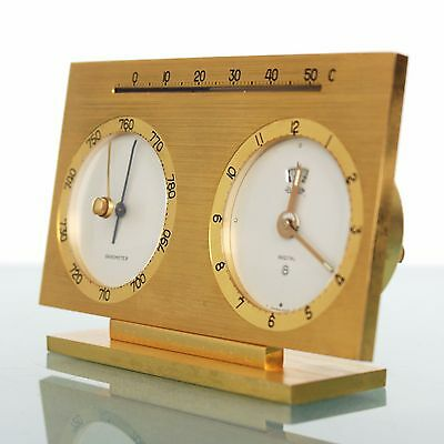 JAEGER LECOULTRE RECITAL TOP!! Clock Barometer Thermometer SWISS Gilded! Vintage