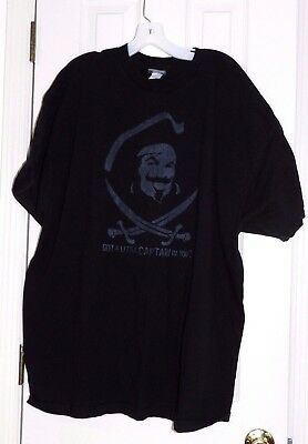 Captain Morgan Rum Co.  Got a Little Captain in You?  T-Shirt  3XL XXXL  Black