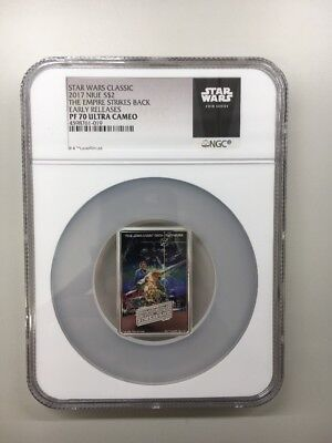 2017 Star Wars Posters Empire Strikes Back 1oz Silver $2 NGC PF70 UC ER SW Label
