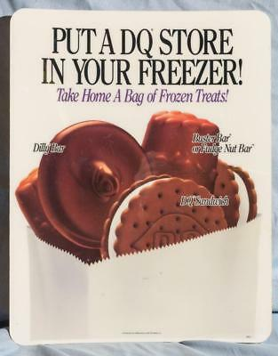 Dairy Queen Promotional Window Decal Store Freezer dq2