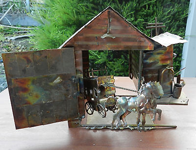 Musical Stage Coach and Barn - Plays Take Me Home, Country Road, John Denver