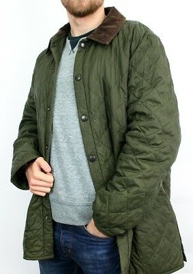 Men's Barbour Liddesdale Quilted Jacket Size L Green Winter Season