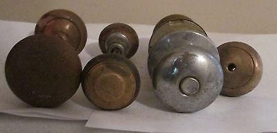 Antique Old Reclaimed Wooden Wood Door Handle Knob plus 3-4 pieces
