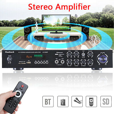 1120W Bluetooth Hi-Fi Power Amplifier 5 CH Digital Stereo Surround Home Karaoke