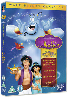 Aladdin: Musical Masterpiece Edition DVD (2012) Ron Clements cert U Great Value