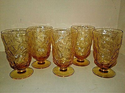 Seneca Morgantown Driftwood Yellow Footed Water Goblets
