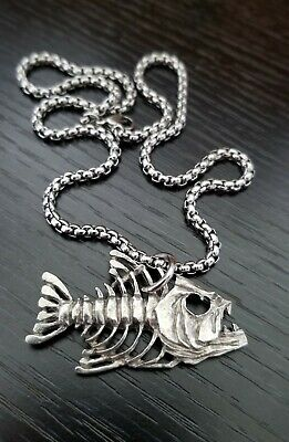 Fish Necklace Bass Necklace Fishing Gifts Bass Fishing Gifts Jumping Bass