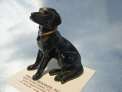 Hagen Renaker Dog Black Labrador 888 Figurine Miniature FREE SHIPPING NEW