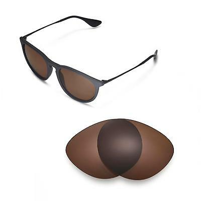 eb8cd41ccd1 New Walleva Polarized Brown Lenses For Ray-Ban Erika RB4171 54m Sunglasses