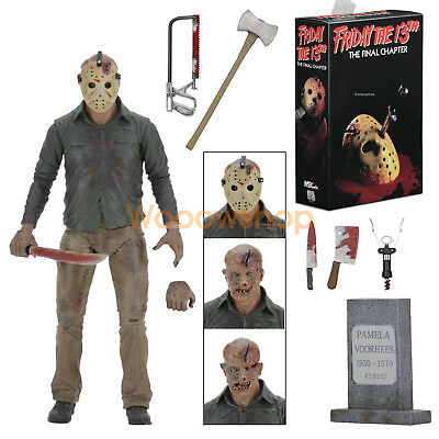 """NECA Friday The 13th Final Chapter Jason Voorhees 7"""" Action Figure 2017 1:12 New"""