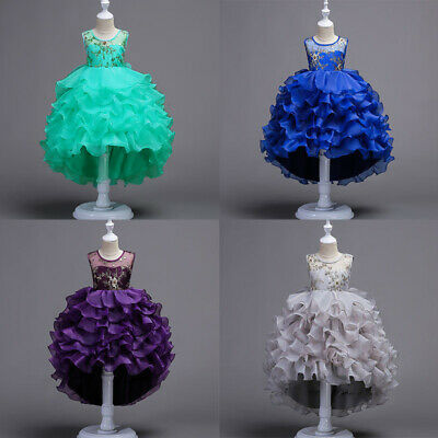 Flower Girl Princess Dress Baby Kid Formal Party Wedding Pageant Dresses Clothes